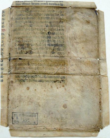 Országos Széchényi Könyvtár: Szentkúty Pál Gutenberg-töredéke