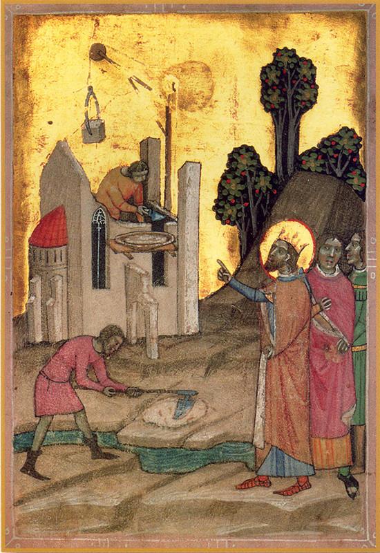 Országos Széchényi Könyvtár: Szent László király az épülő váradi székesegyház előtt